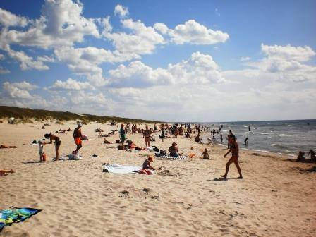 пляж в Смильтине (в районе Новой переправы)