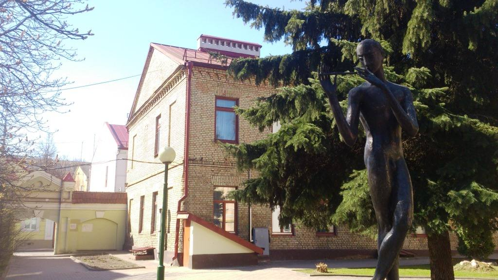 Дворик у музыкального колледжа в Гродно