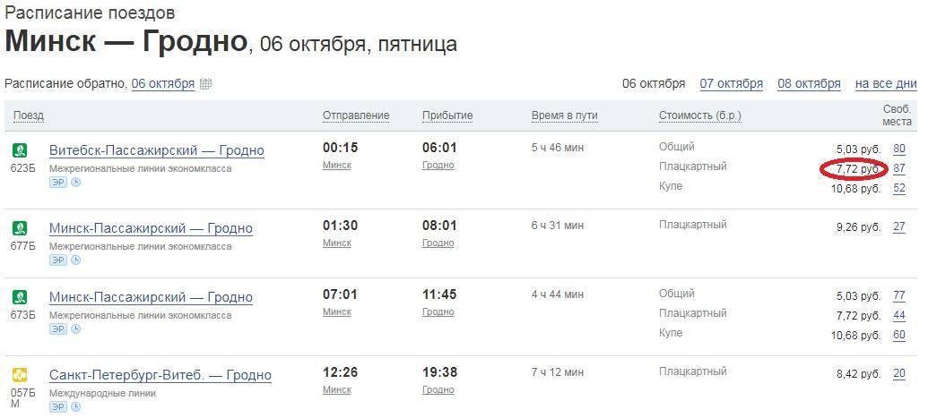 минск Гродно поезда под Белосток