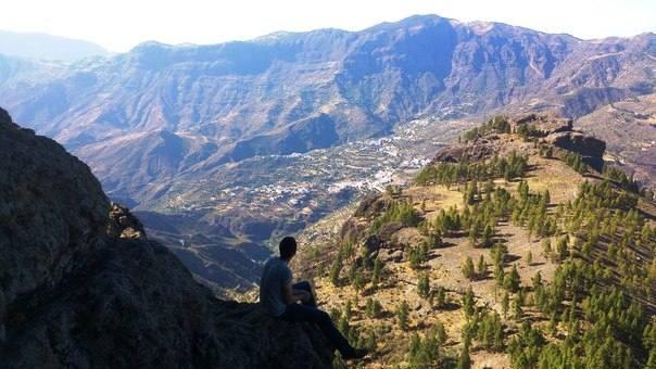 Горы недалеко от Техеды