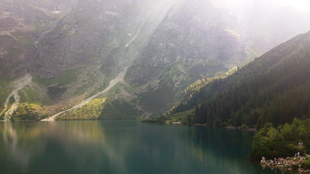 озеро морское око летом