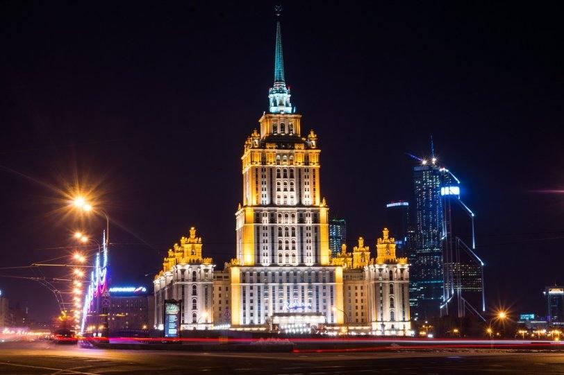 Москва ночные огни