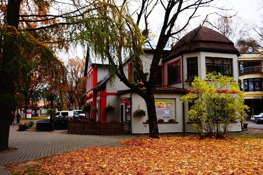 город Сигулда осенью