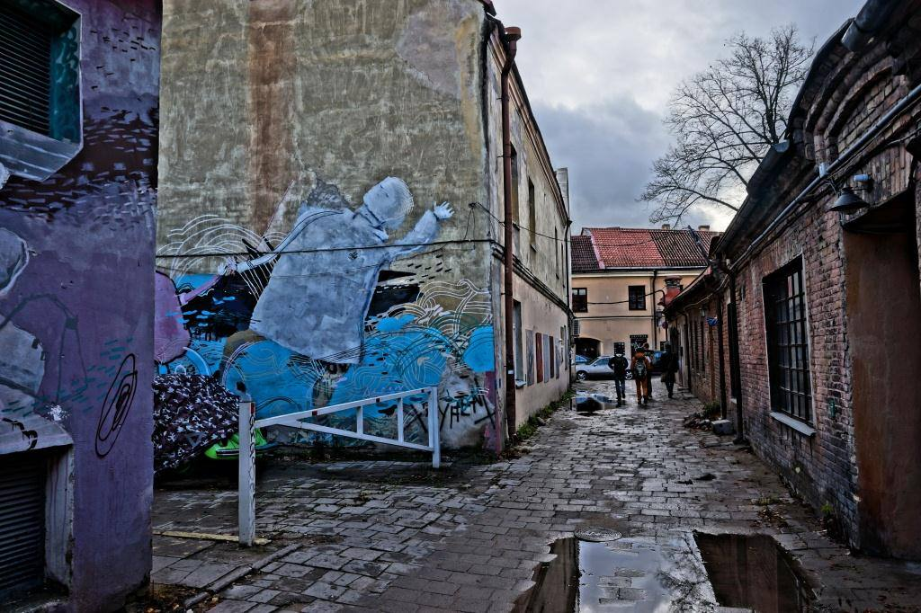 граффити в Ужуписе