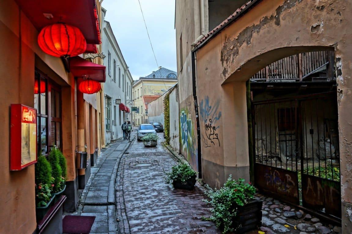 узкие улицы Вильнюс
