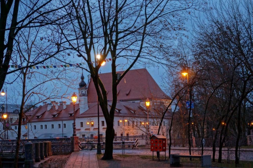 Вильнюс ночью осень