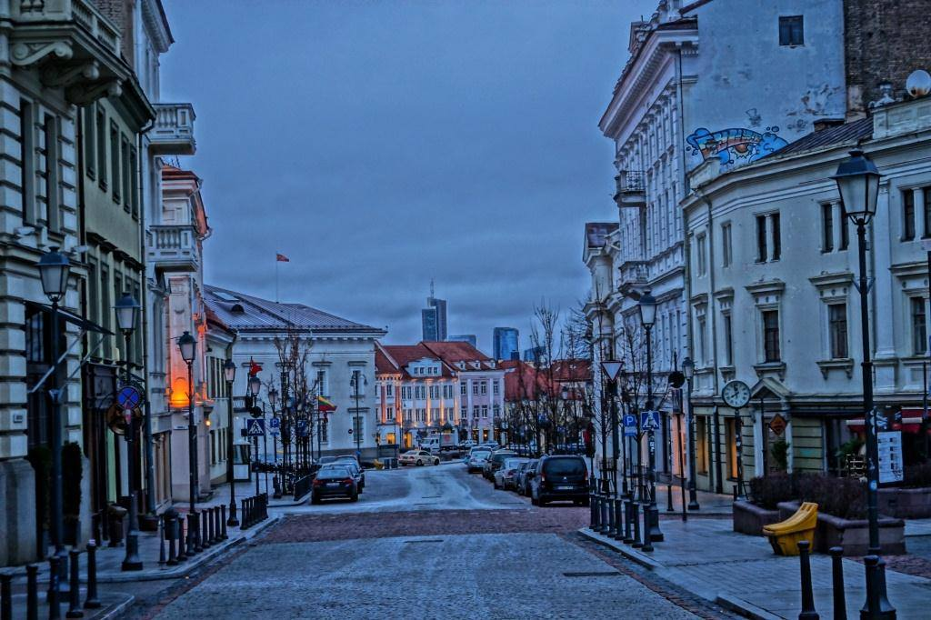 Вильнюс сити на фоне города