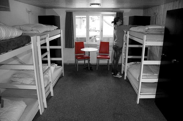 комната в хостеле в риге