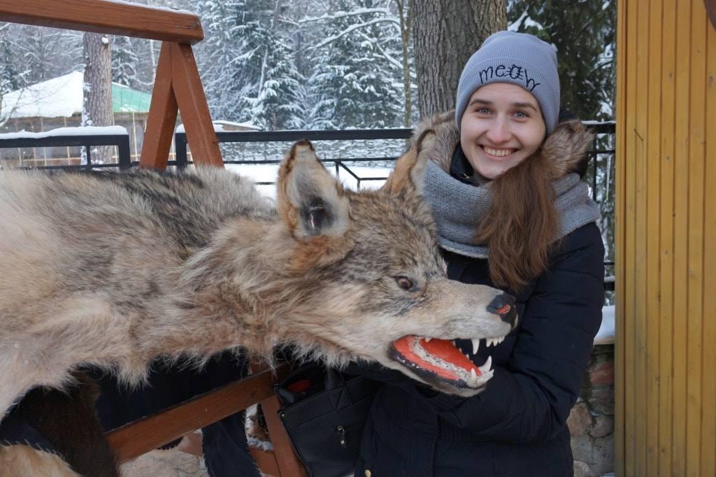 ковер с волком