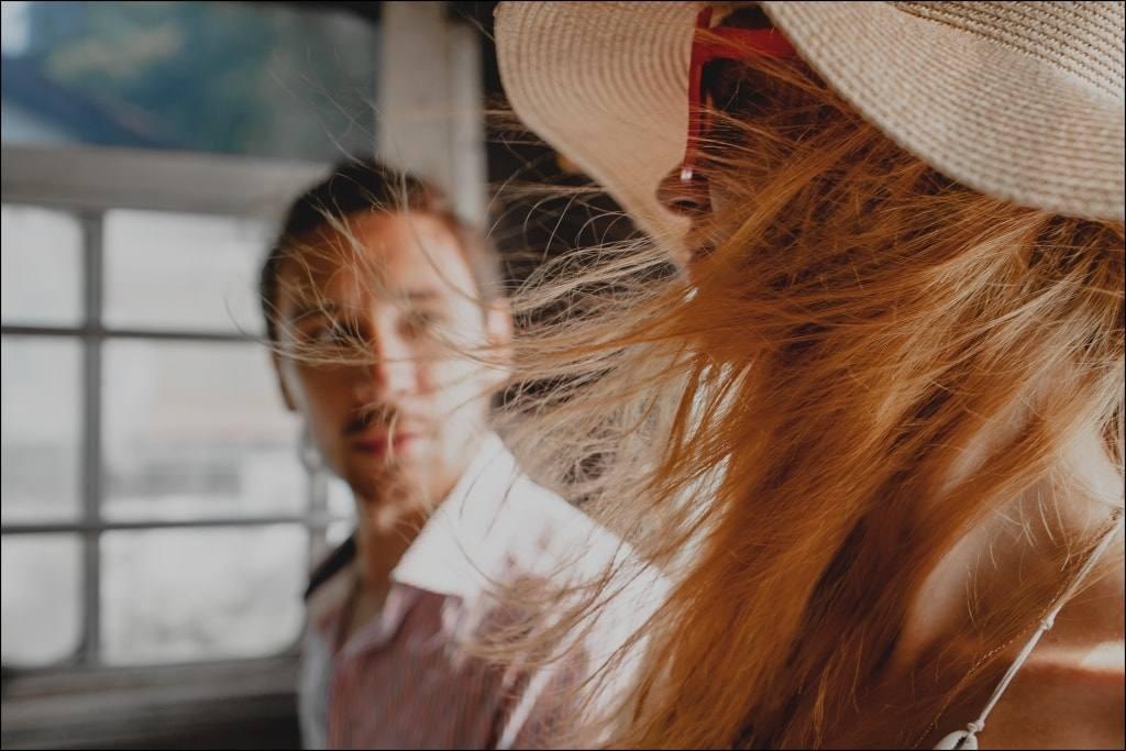 романтика солнце ветер волосы