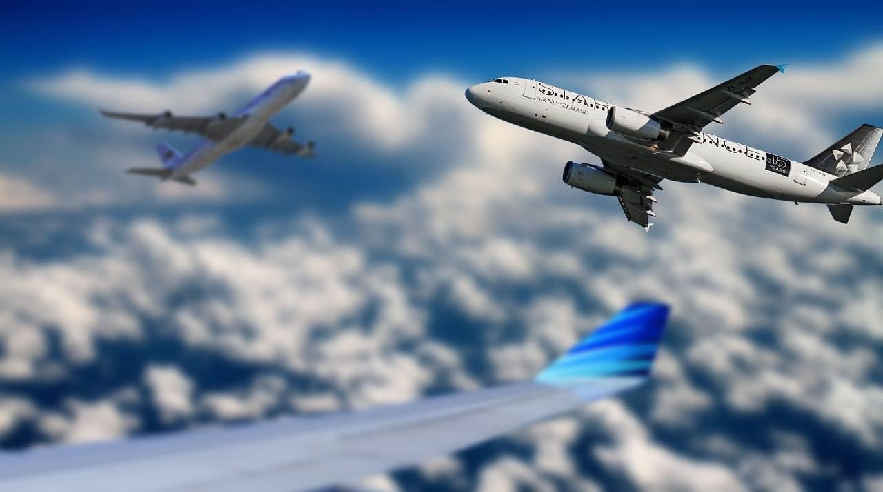 Самолеты, небо