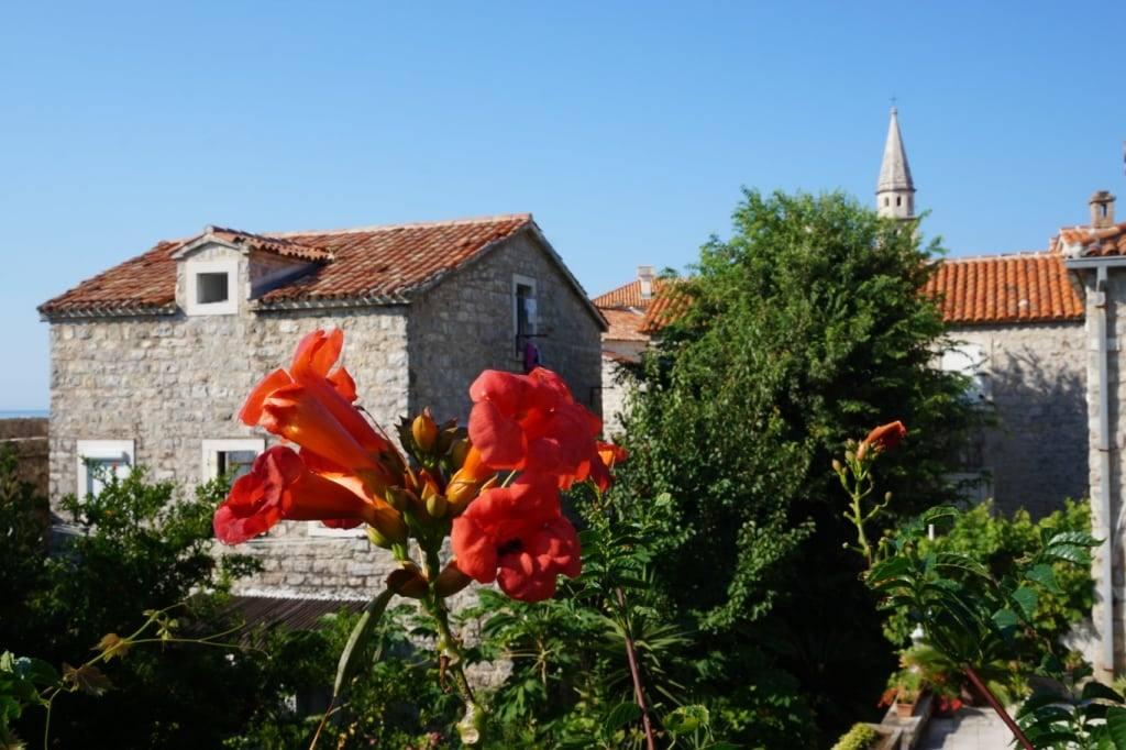 Old town view Budva Montenegro
