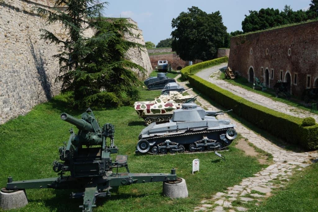 Vojennij musej v parke Kalemegdan Belgrad Serbia