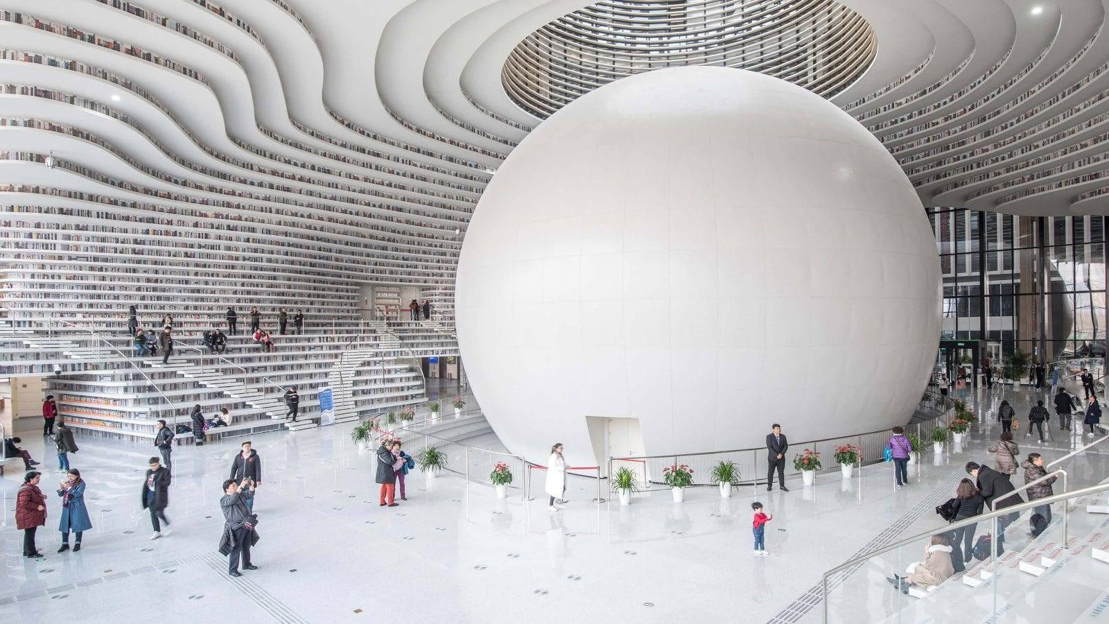 Tianjin-Binhai-biblioteka