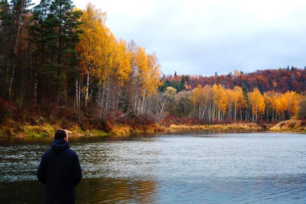 река Гауя в Латвии
