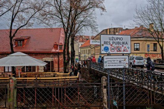 Ужупис Вильнюс мост через реку