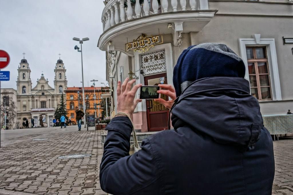 костел у Ратуши в Минске