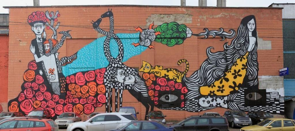 граффити на октябрьской