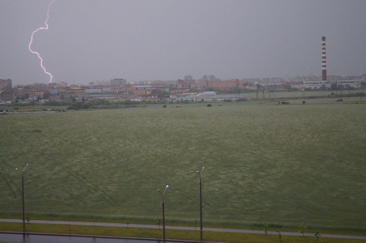 молния в Гродно