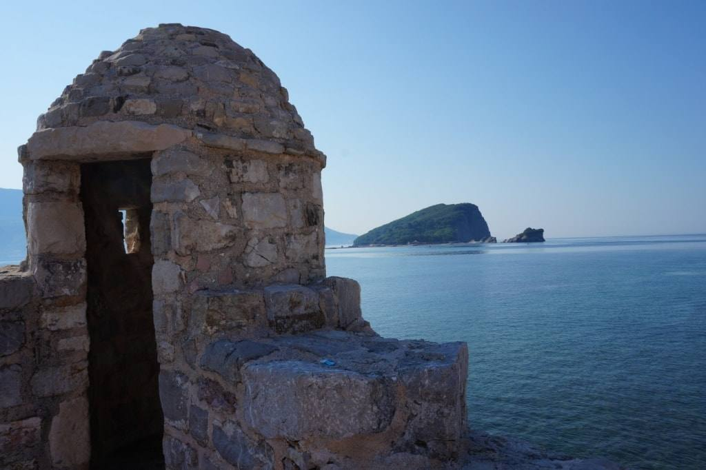 sea view from fortress walls Budva Old town