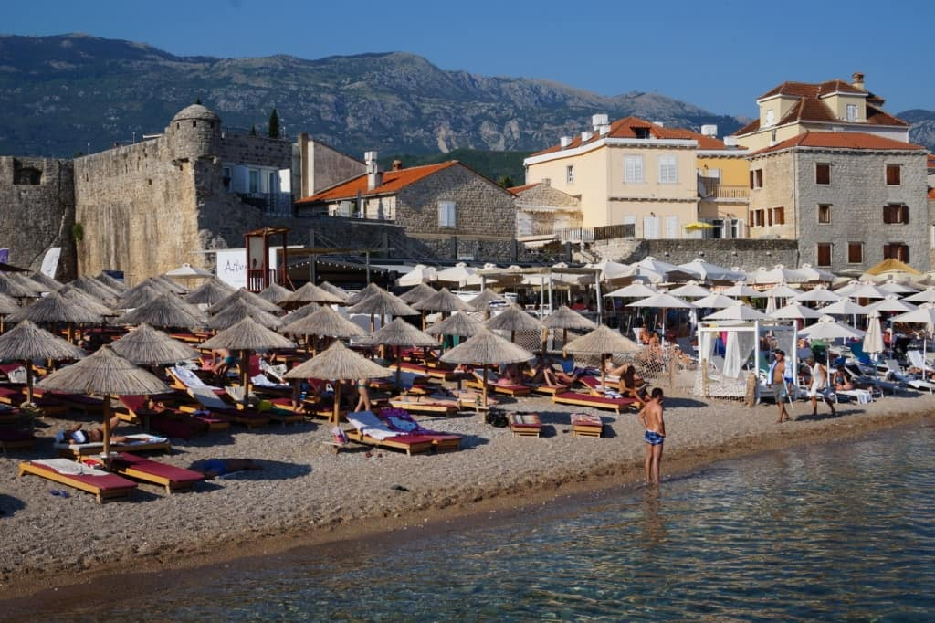 Richard's head beach Budva Montenegro