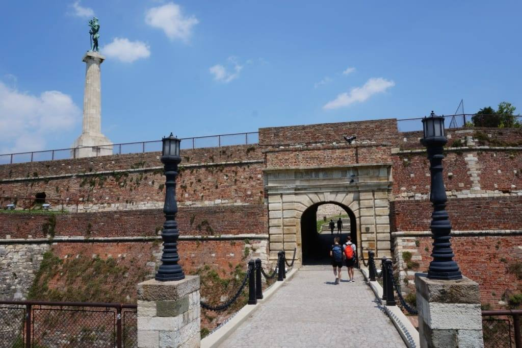 Belgrade fortress in Belgrade Serbia