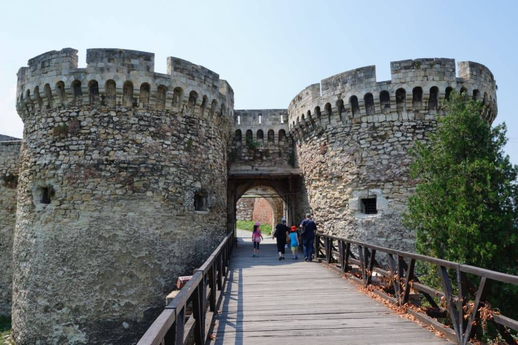 Prison gate in Belgrade fortress Serbia