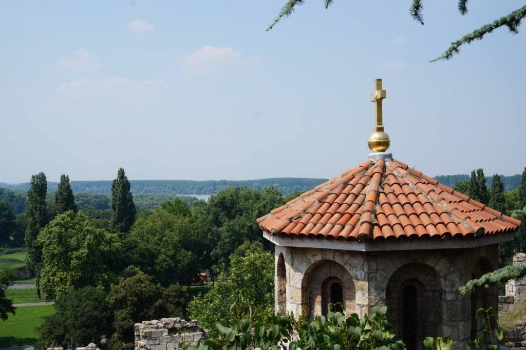 Part of Ruzica church Kalemegdan park in Belgrade
